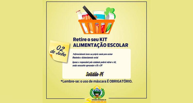 Escolas Municipais de Solidão realizará entrega de kit de Alimentação Escolar nesta sexta 02