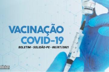 Solidão-PE: Boletim de Vacinação da Covid-19 – 08/07/2021