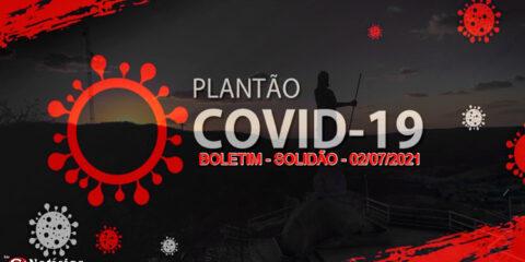 Solidão-PE: Boletim informativo Covid-19 – 02/07/2021