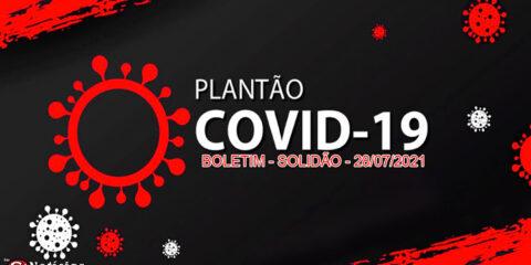 Solidão-PE: Boletim informativo Covid-19 – 28/07/2021
