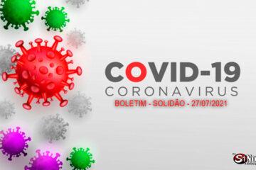 Solidão-PE: Boletim informativo Covid-19 – 27/07/2021