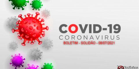 Solidão-PE: Boletim informativo Covid-19 – 08/07/2021