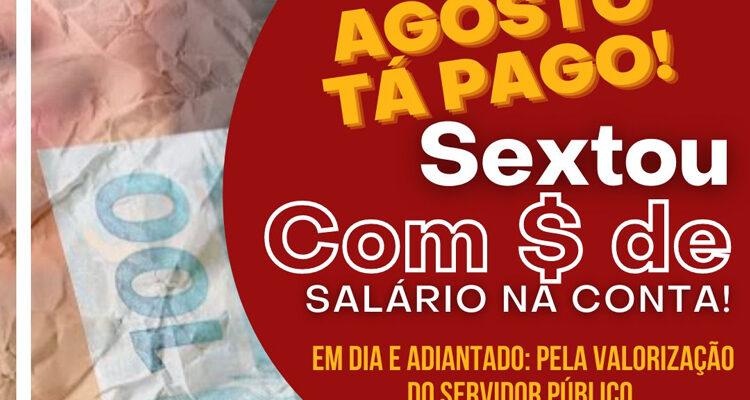 Prefeitura de Solidão adianta pagamento de agosto 2021