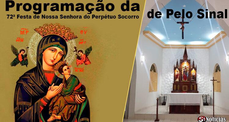 Confira a Programação da 72ª Festa de Nossa Senhora do Perpétuo Socorro de Pelo Sinal