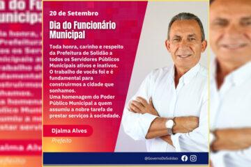 Dia do Servirdor Municipal - Mensagem do Prefeito Djalma Alves