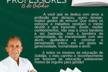 Dia do Professor: mensagem aos professores do prefeito Djalma Alves