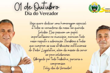 Mensagem do Prefeito Djalma Alves e do Vice José Nogueira ao dia do Vereador