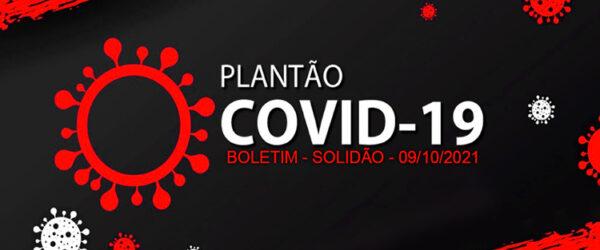 Solidão-PE: Boletim informativo Covid-19 – 09/10/2021