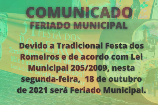 Prefeita de Solidão informa feriado municipal em 18 de outubro