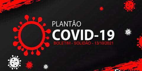 Solidão-PE: Boletim informativo Covid-19 – 13/10/2021